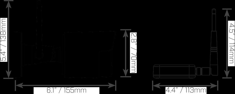 LW4211B dimensions