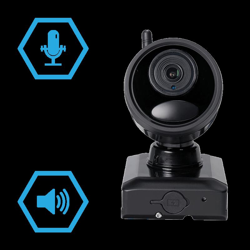 two-way talk wire-free camera