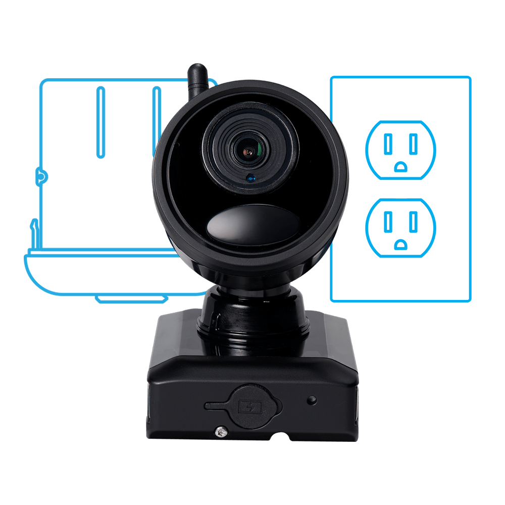 plug in hybrid wire-free security camera