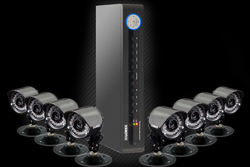 video security system with 8 cameras