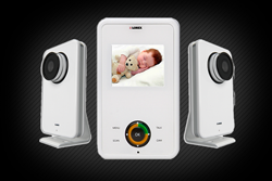 video baby monitor with 2 cameras