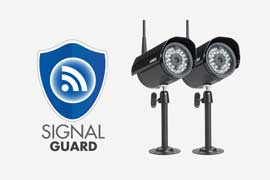 wireless security cameras with signal guard technology