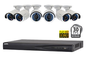 IP camera system with High Definition cameras