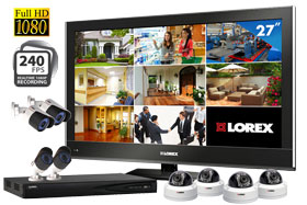HD security camera system with 8 IP cameras