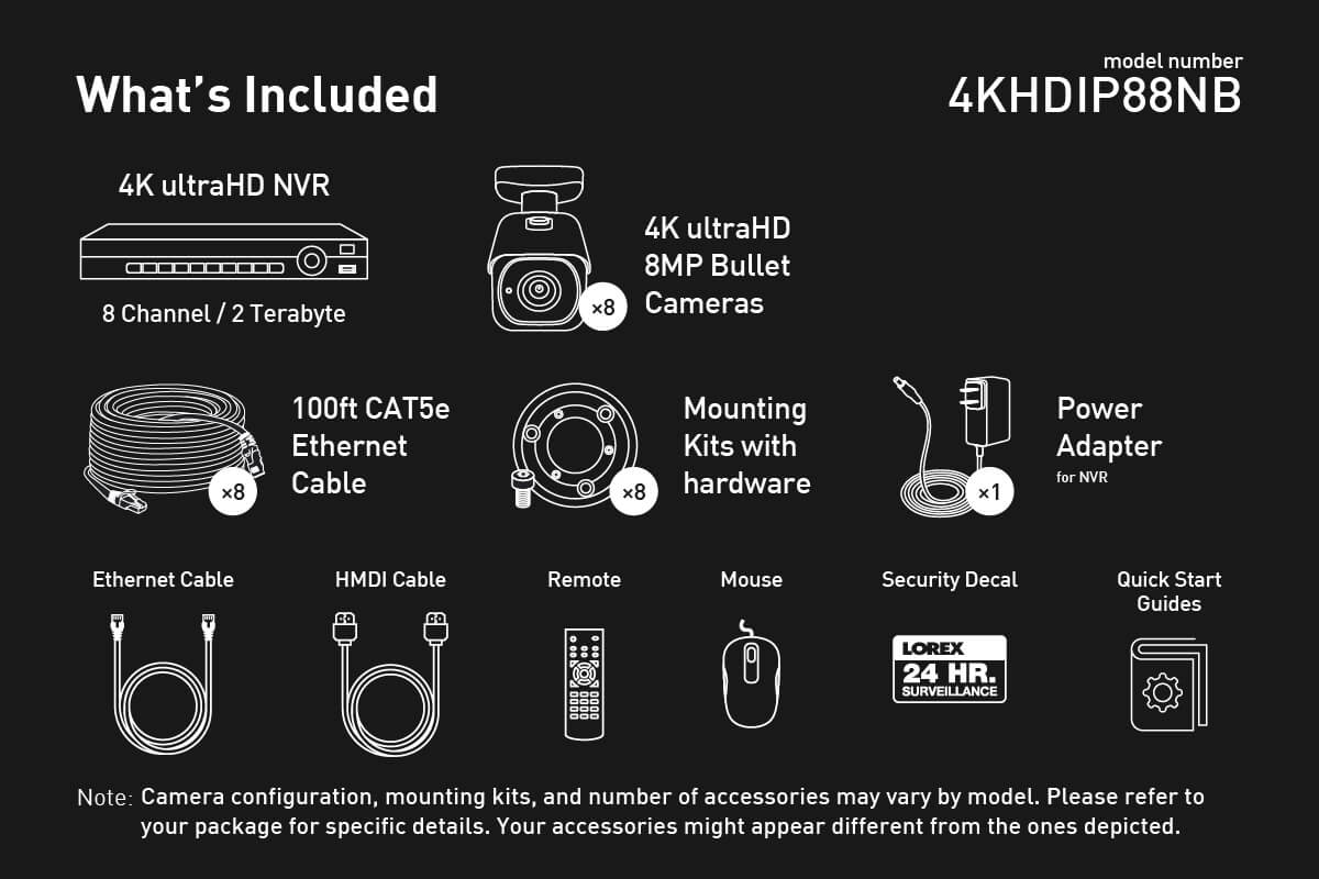 4k Ultra Hd Ip Nvr System With 8 Outdoor 8mp Cameras 200ft Rca To Usb Cable Wiring Diagram Besides Diy Vga Night