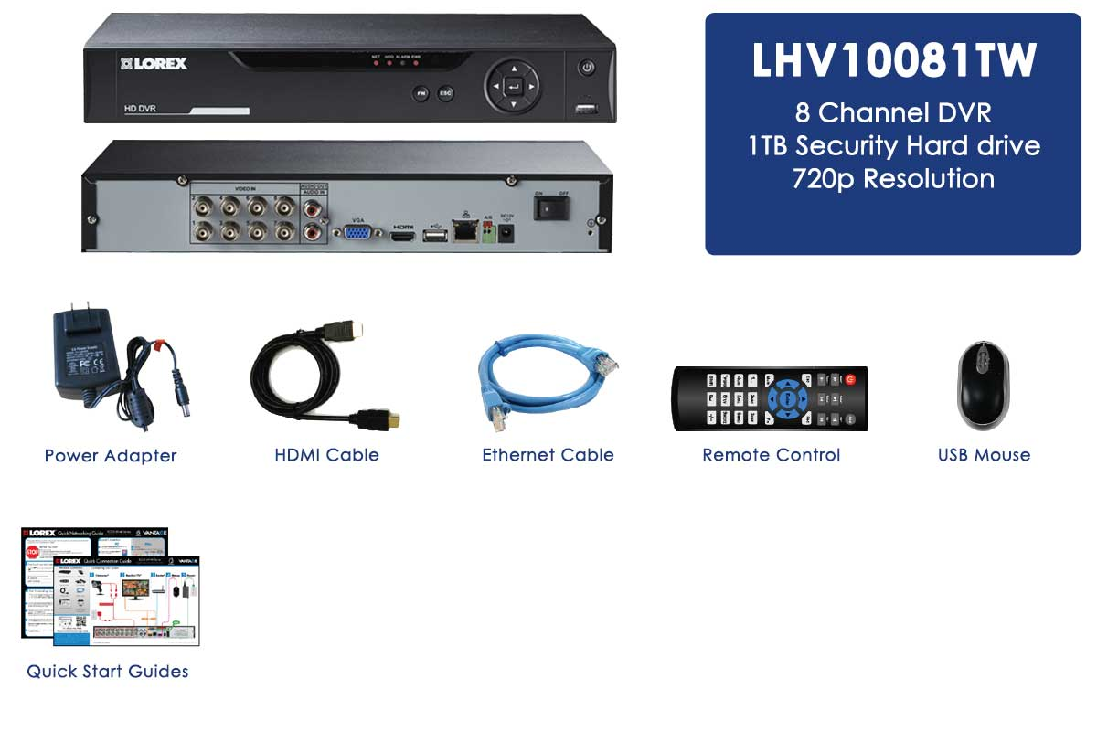 8 Channel Security DVR with HD Recording | Lorex