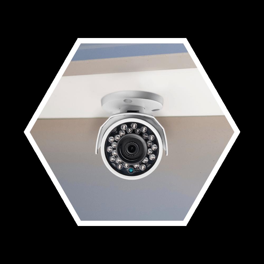 Tente instalar câmeras de segurança sob abrigo para mantê-lo protegido contra chuva e poeira