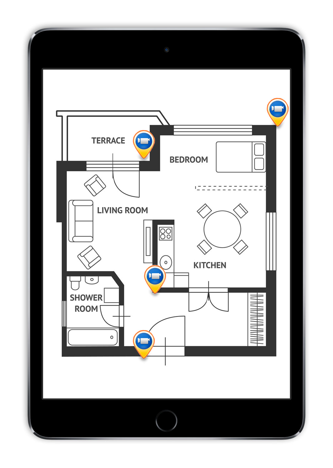 Placing Security Cameras Diagrams Explore Schematic Wiring Diagram Home Alarm Color Code Planning And Positioning Setting Up Your System Lorex Rh Lorextechnology Com Ip Camera Blue