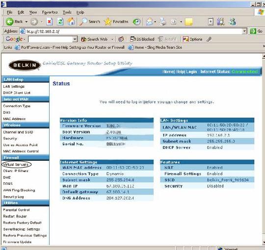 Port forwarding a router lorex belkin router f5d8230 4 keyboard keysfo Images