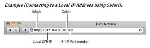 Connect to local IP address Mac