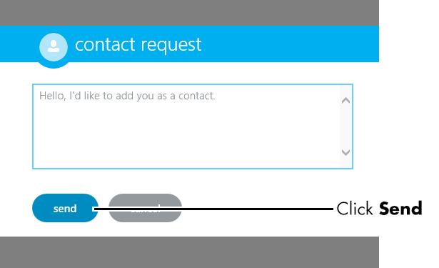 Contact request screen
