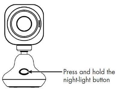Press and hold the night-light button