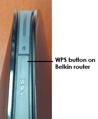 WPS button on Belkin router