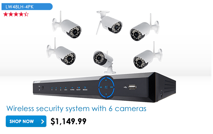 Outdoor wireless security camera system $749.99