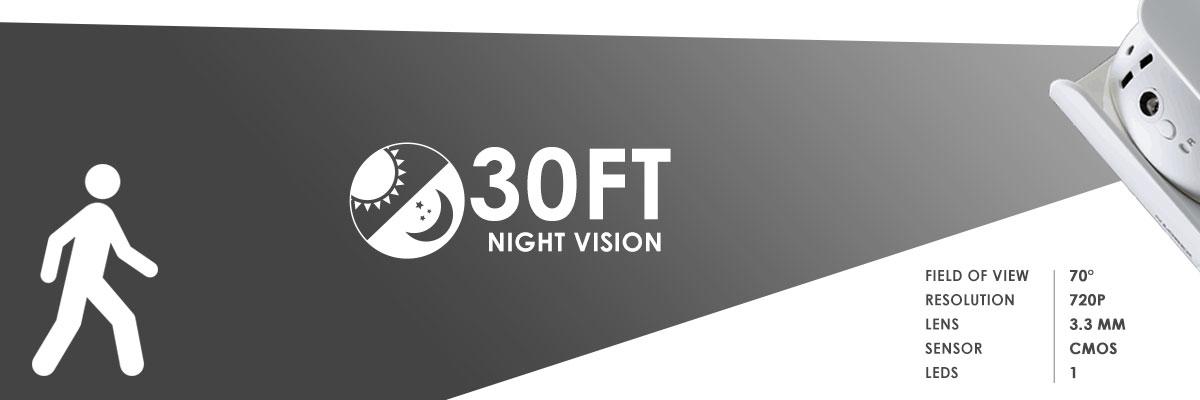 LNC254 wifi night vision range camera