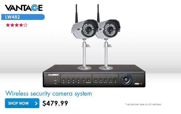 wireless security system with 2 cameras