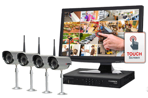 Touch security dvr systems