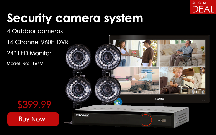 security camera system with monitor - $399.99