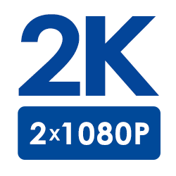 2K Super HD Resolution (2�1080p Full HD)