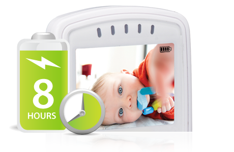 baby monitor with long lasting battery
