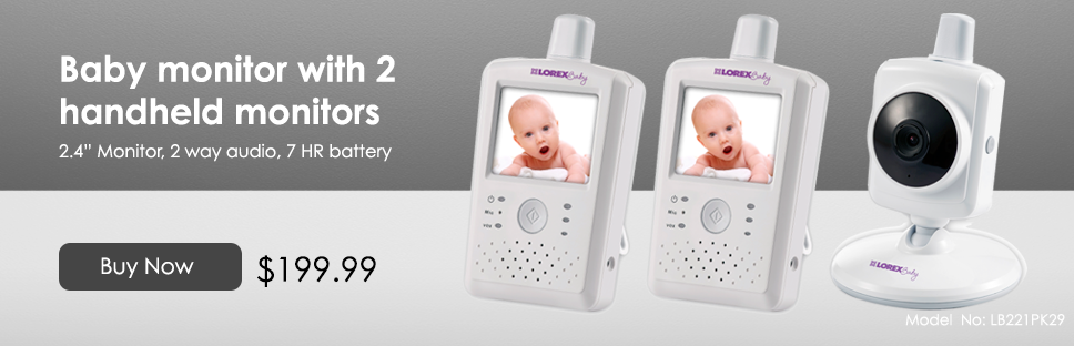 baby monitor with 2 monitors
