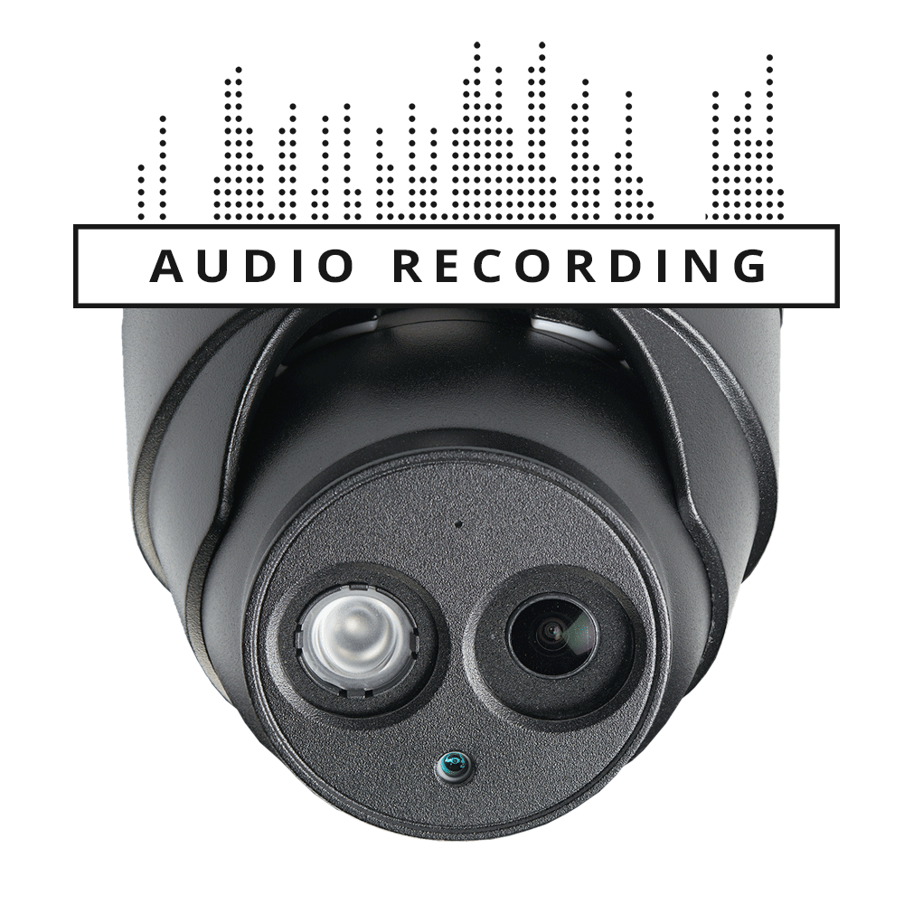 4K nocturnal audio security camera