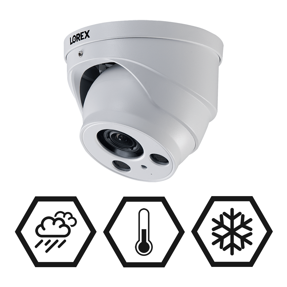 4K nocturnal weatherproof security camera