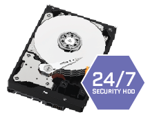 Security grade HDD pre-installed