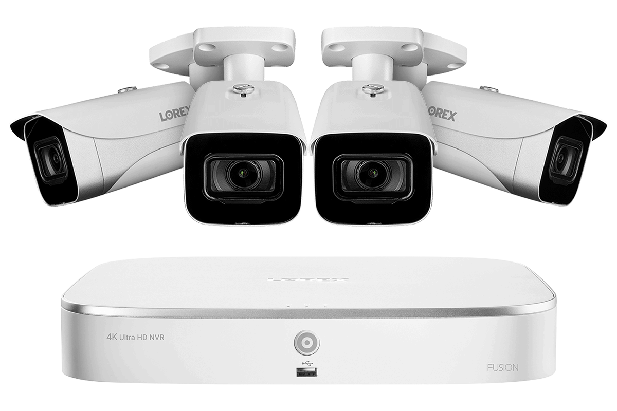4K Ultra HD IP NVR Security Camera System with 4 IP Cameras Lorex 4KAI84