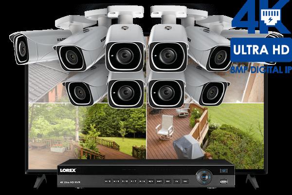 4K IP camera system