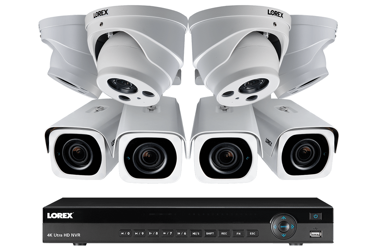 Nocturnal With 8mp 4k Four Varifocal Nvr Ip System 16-channel