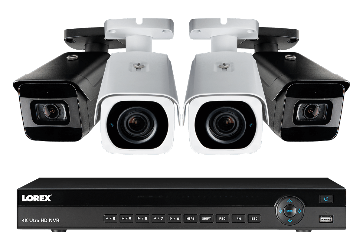 Surveillance System with 4 Channel NVR and 4 Pan-Tilt-Zoom Outoor