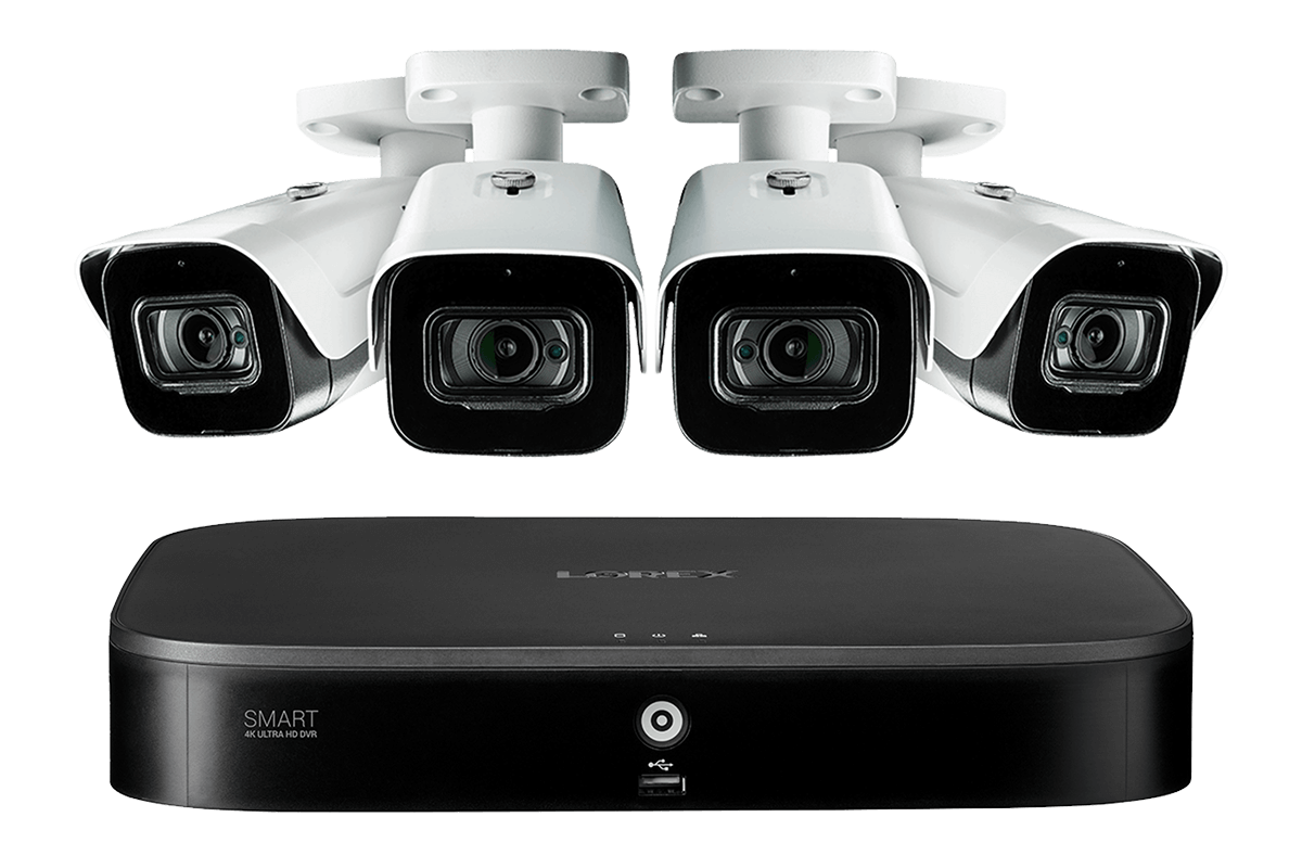 4K 8MP HD camera home security system Lorex 4KMPX44-2