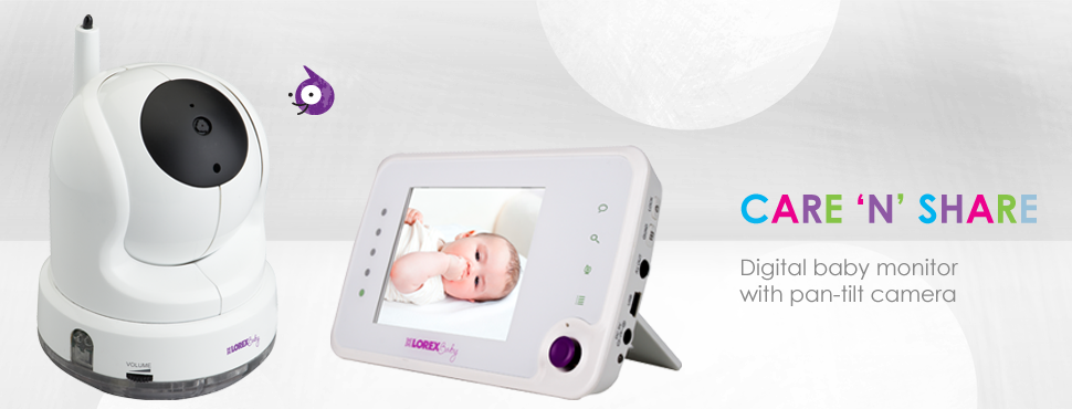 Baby monitor with PTZ camera and 3.5inch monitor