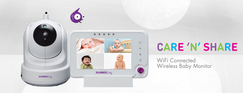 Care N Share WiFi Connected 4.3 Video Baby Monitor