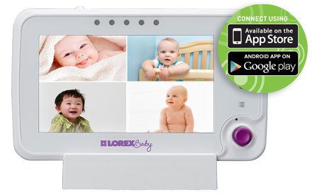 View your baby on your smartphone or tablet