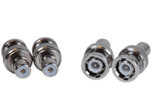 4 pack of BNC-RCA male-female security connectors