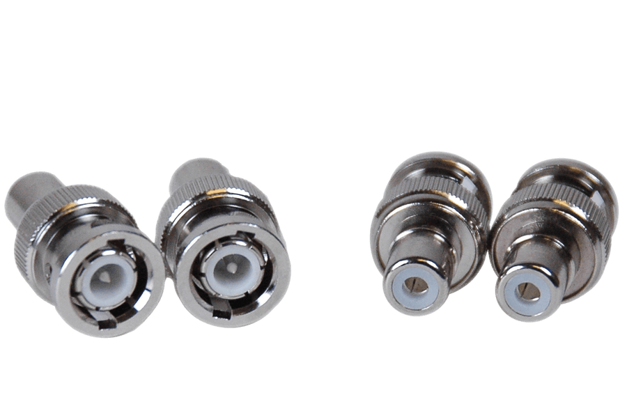 4 pack of BNC RCA male female security connectors