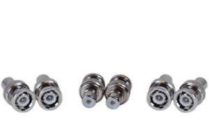 6 Pack of BNC-RCA male-female security connectors