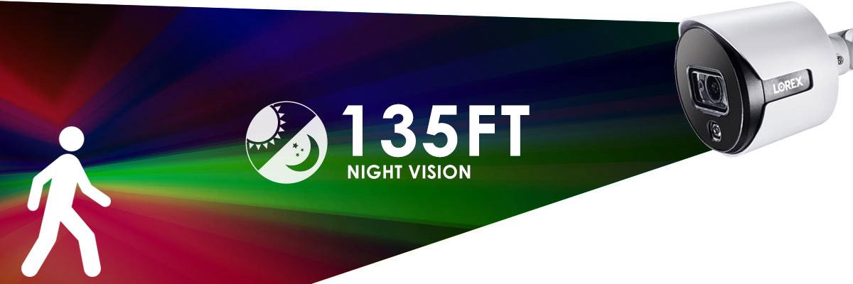4K analog color night vision security camera