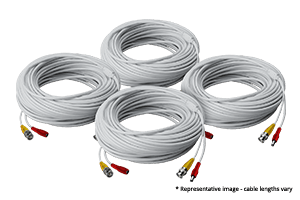 4 pack of 250ft high performance BNC Video/Power Cables for Lorex security camera systems
