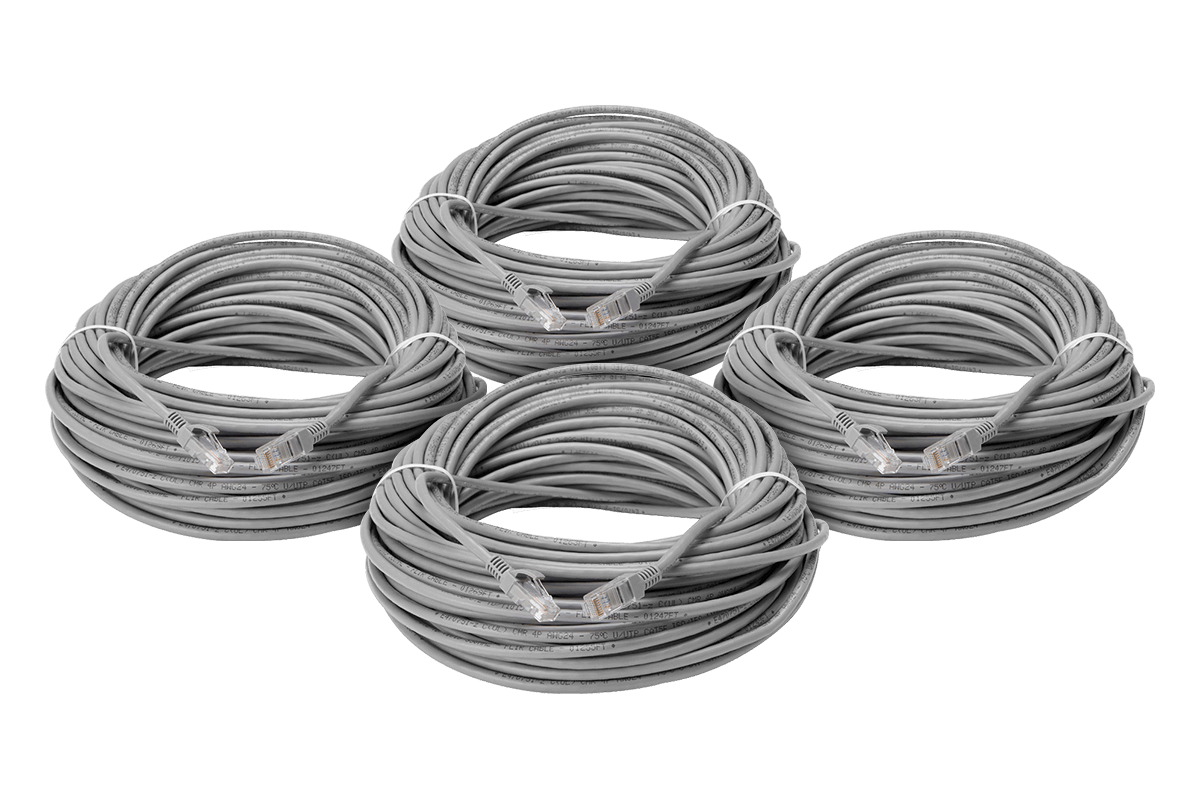 security camera cables 100 foot cat5e extension cables 4 pack