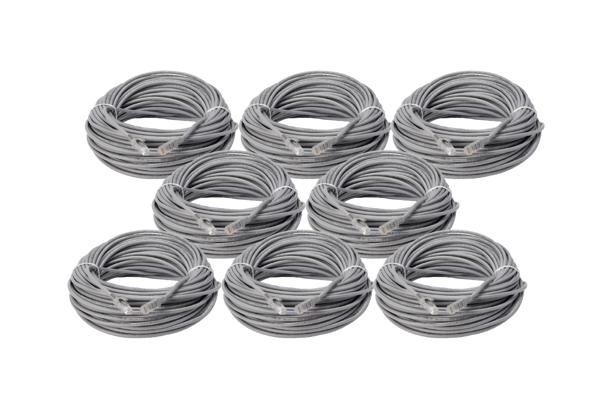 8-Pack Lorex 60 Ft CAT5e Extension Cable, Fire Resistant and In-Wall Rated, CMR type