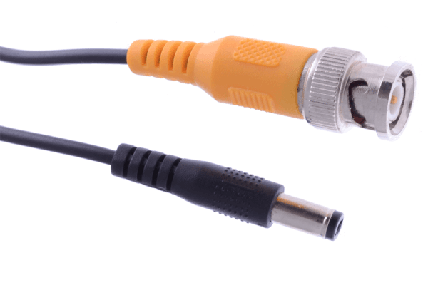 In wall rated security camera cables - 120FT video BNC and power