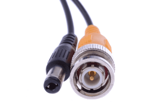 In wall rated security camera cables - 60FT video BNC and power