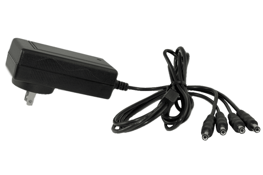 4-in-1 security camera power adapter