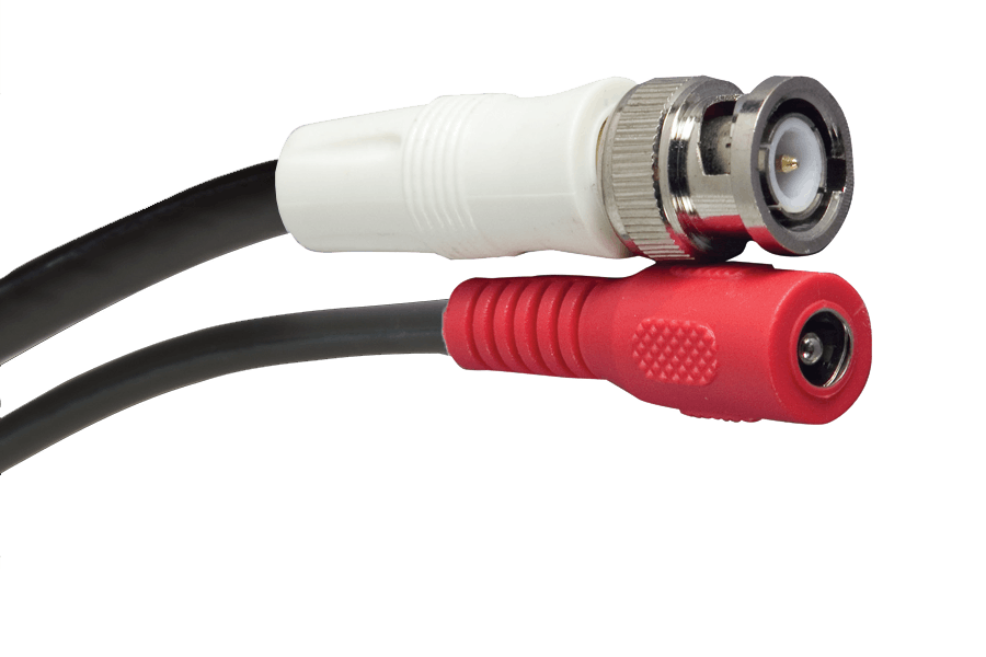 In wall security camera cable - 120FT video BNC and power, fire rated Siamese cable