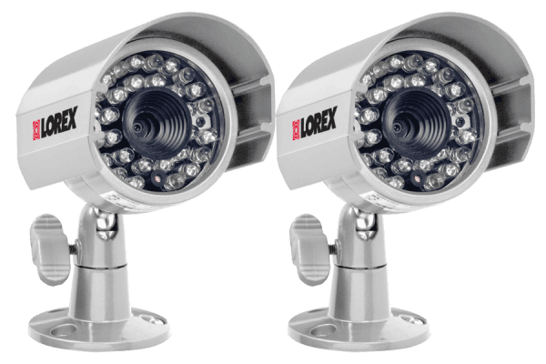 Outdoor surveillance cameras with 100FT night vision (2-pack)