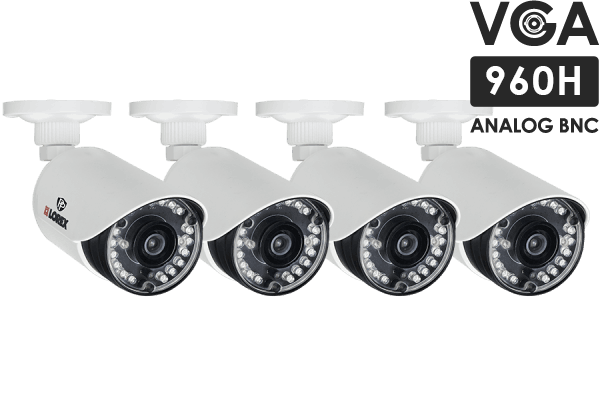 Security cameras 900 TVL with 130FT night vision