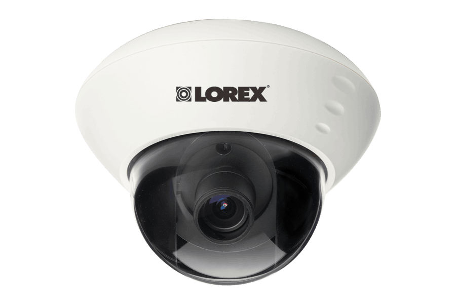 Varifocal dome security camera with low light viewing